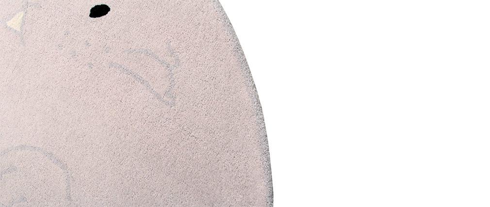 Tappeto per bambino grigio chiaro 150x160cm BUNNY