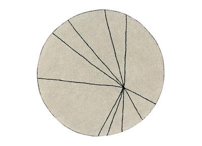 Tappeto rotondo, in cotone, colore: Beige, diametro: 160cm, modello: RADIUM