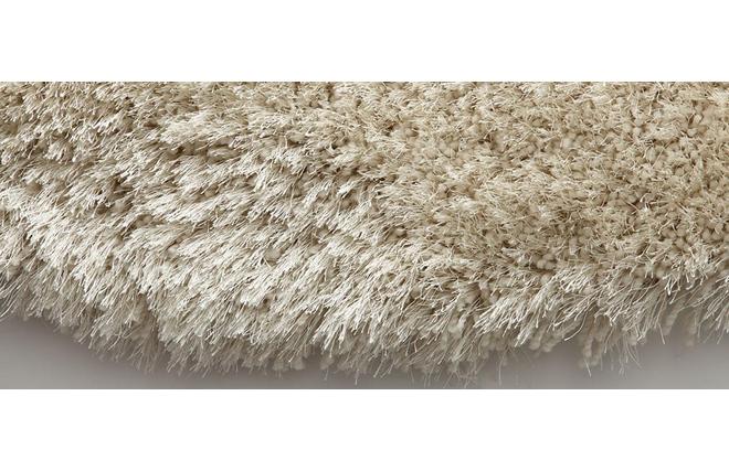 Tappeto shaggy rotondo color bianco 150 cm UGO - Miliboo