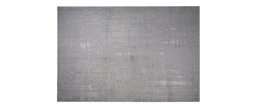 Tappeto verde-grigio acrilico e cotone 155x230 USED