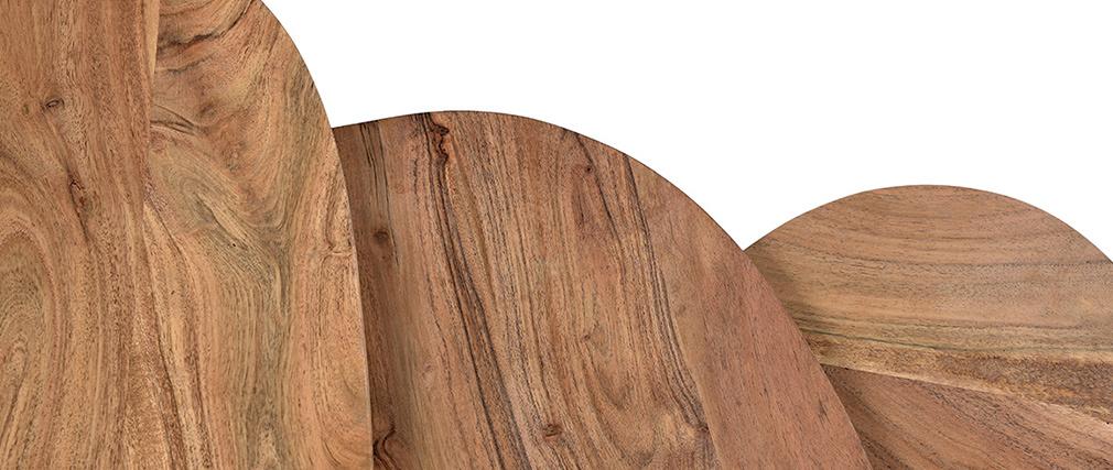 Tavolini a scomparsa in acacia e metallo (gruppo di 3) STONES