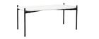 Tavolini bassi design dimensioni 100 e 75 cm Bianco/Grigio piedi in metallo lotto di 2 SEGA