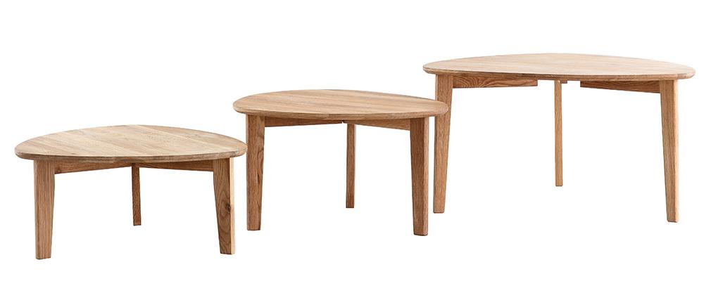 Tavolini bassi estraibili rovere massello TRIPLE