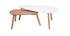Tavolini bassi scandinavi quercia e bianco lotto di 2 ARTIK