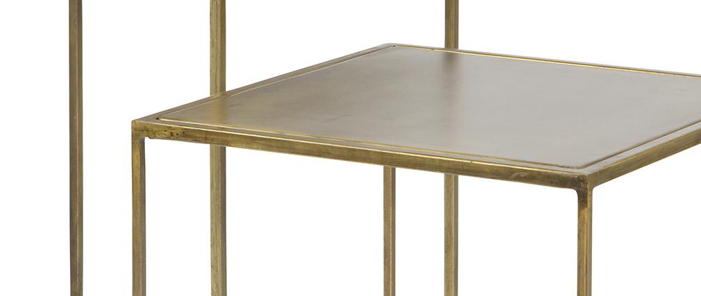Tavolini design metallo ottone gruppo di 2 ERINE