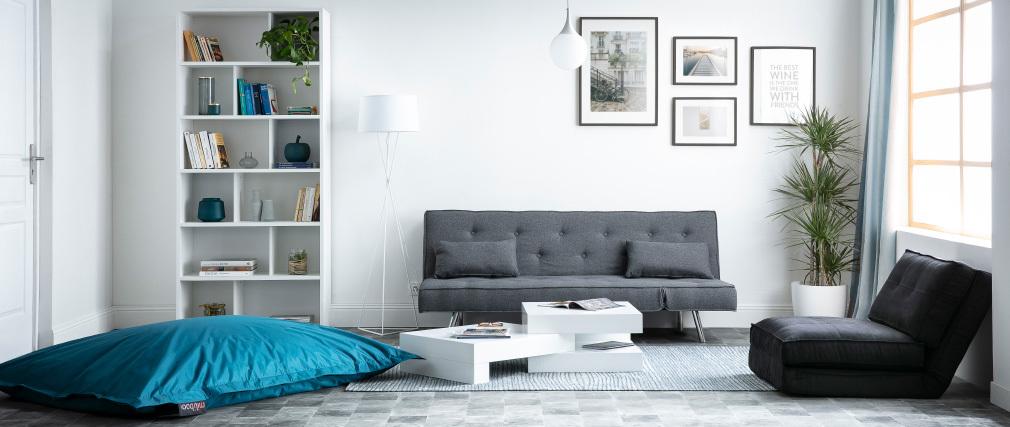 Tavolino basso design Bianco brillante LUNA