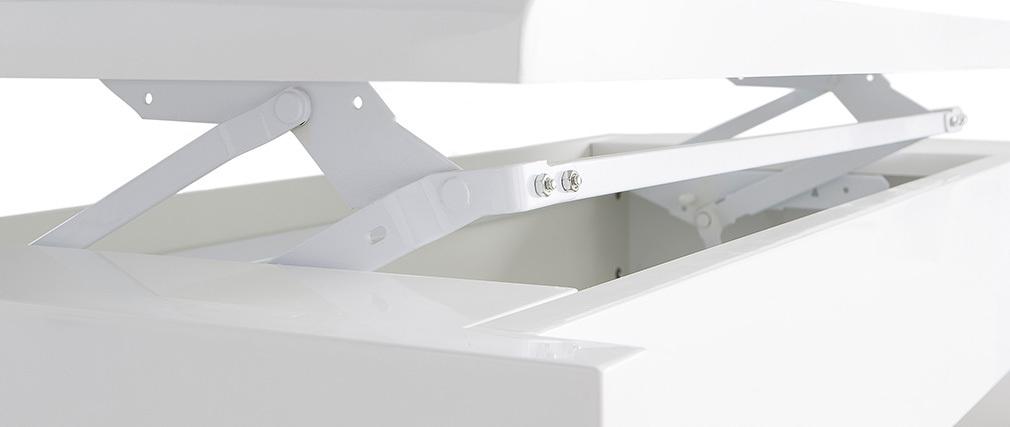 Tavolino basso design bianco LOLA