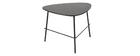 Tavolino basso design in metallo Nero 60 cm BLOOM