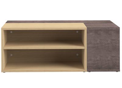 Tavolo Basso Di Design Con Piano Amovibile.Tavolino Basso Design Legno E Grigio Cemento Amovibile Quadra