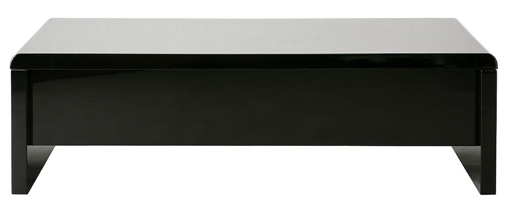 Tavolino basso design nero LOLA