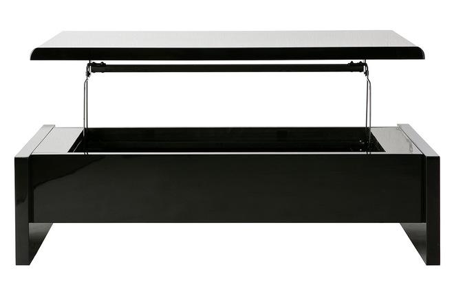 Tavolino basso design nero lola miliboo