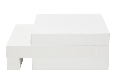 Tavolino basso, di design, colore: Bianco, brillante, modello: LUNA