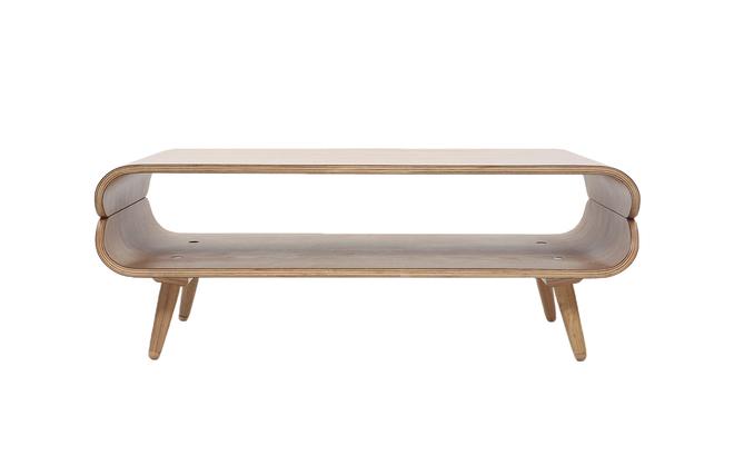 Tavolino basso di design in frassino modello: takla! miliboo