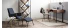 tavolino basso effetto marmo e piedi in metallo 50 cm SILAS