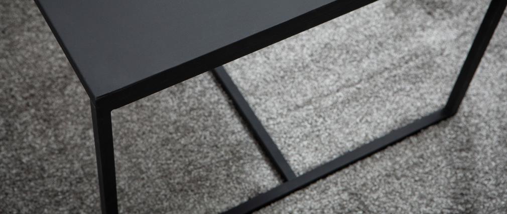 Tavolino basso industriale in metallo Nero KARL