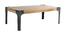 Tavolino basso mango e metallo nero 100cm MADISON