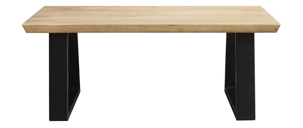 Tavolino basso mango e metallo nero VIJAY