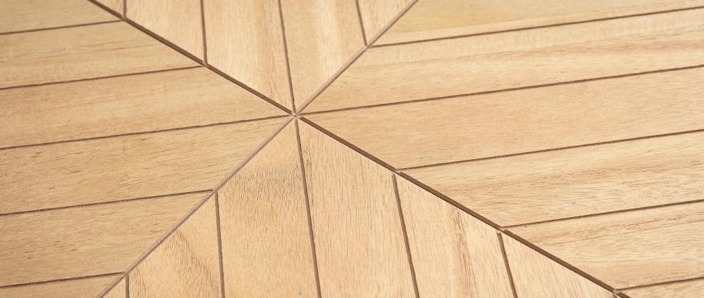 Tavolino basso quadrato legno e metallo nero 60 cm KARE