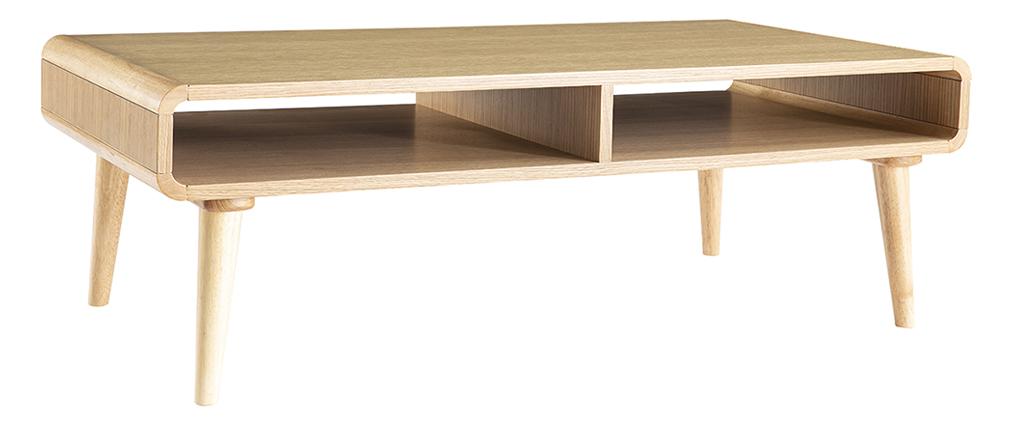 Tavolino basso scandinavo quercia chiara L120 cm COPENHAGUE