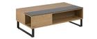 Tavolino basso sollevabile in legno e metallo WYNN