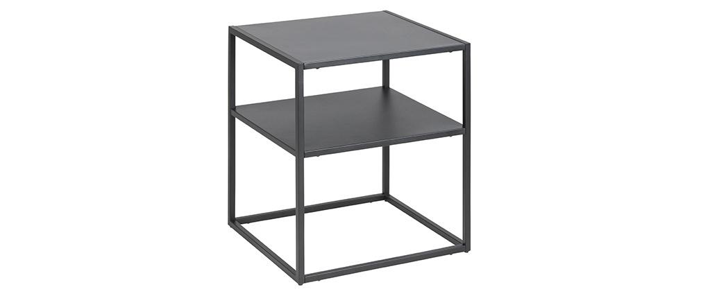 Tavolino complementare in metallo nero KALY
