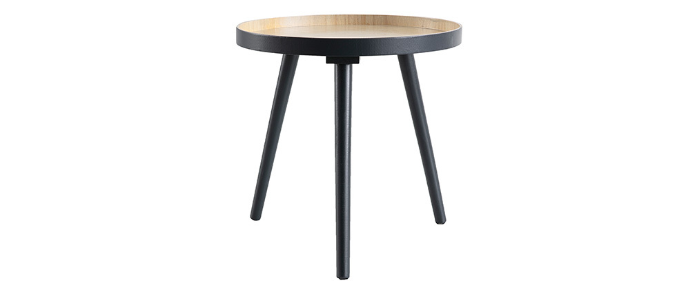 Tavolino complementare scandinavo in legno Antracite NINO
