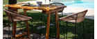Tavolino da bar in pino e teak BELLINI