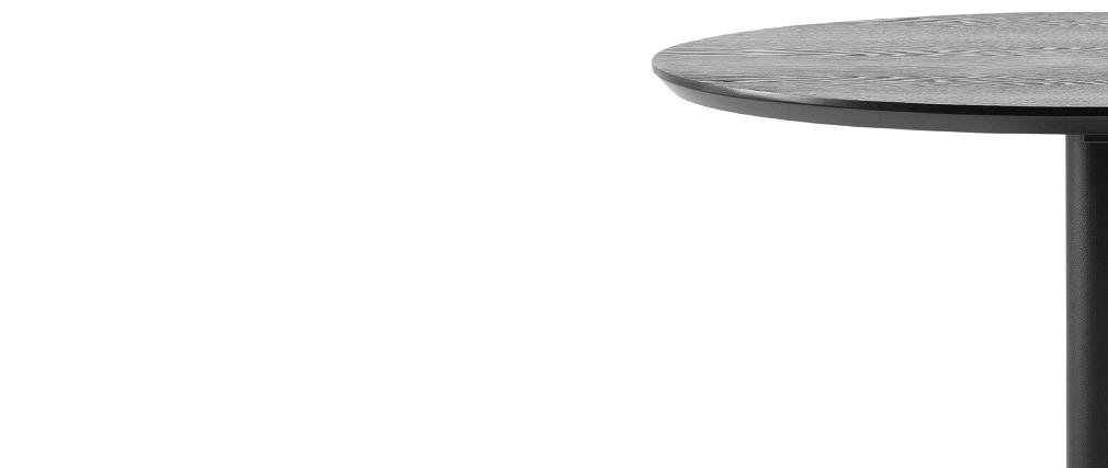 Tavolino da bar rotondo legno nero e metallo D60 cm KALI