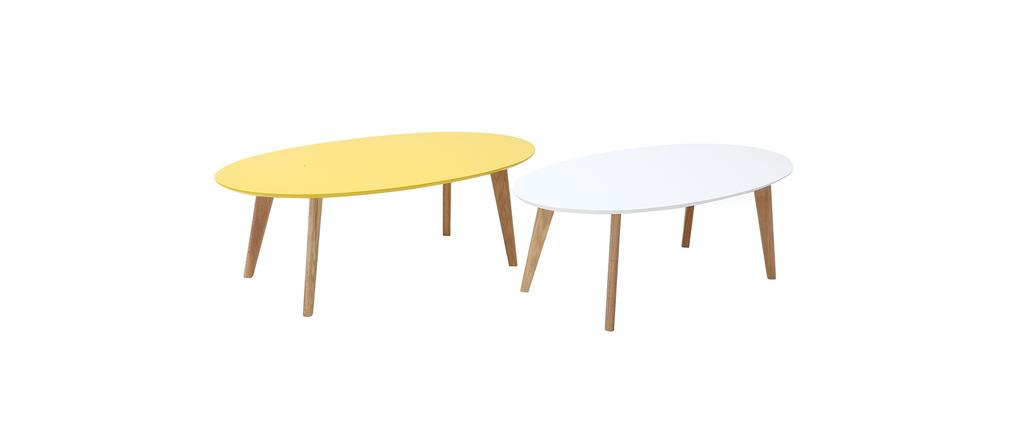 Tavolino design 120cm giallo EKKA