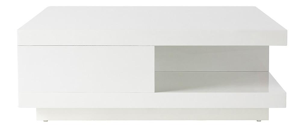 Tavolino design 2 cassetti bianchi KARY