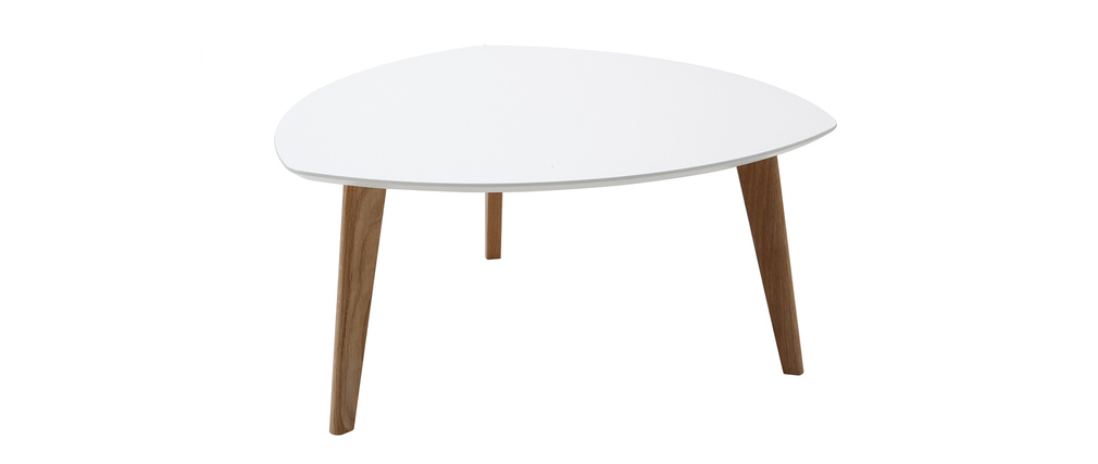 Tavolino design bianco 80cm EKKA