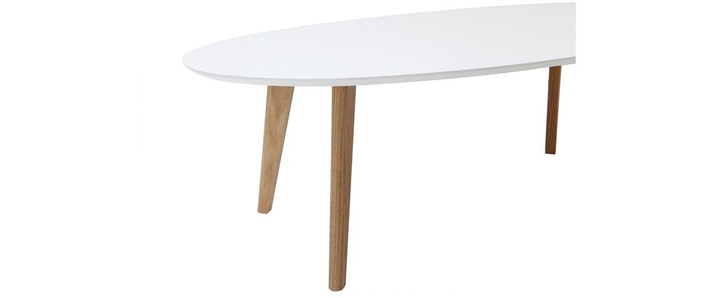 Tavolino design bianco L120 cm EKKA