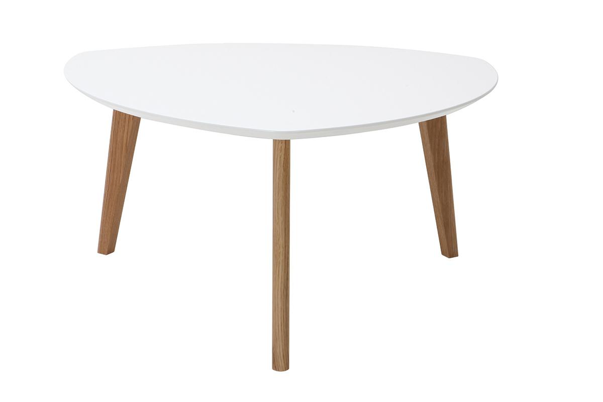 Tavolino design bianco L80 cm EKKA