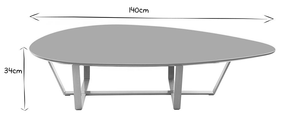 Tavolino design color grigio MILLA