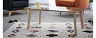 Tavolino design contemporaneo in vetro e quercia DAVOS