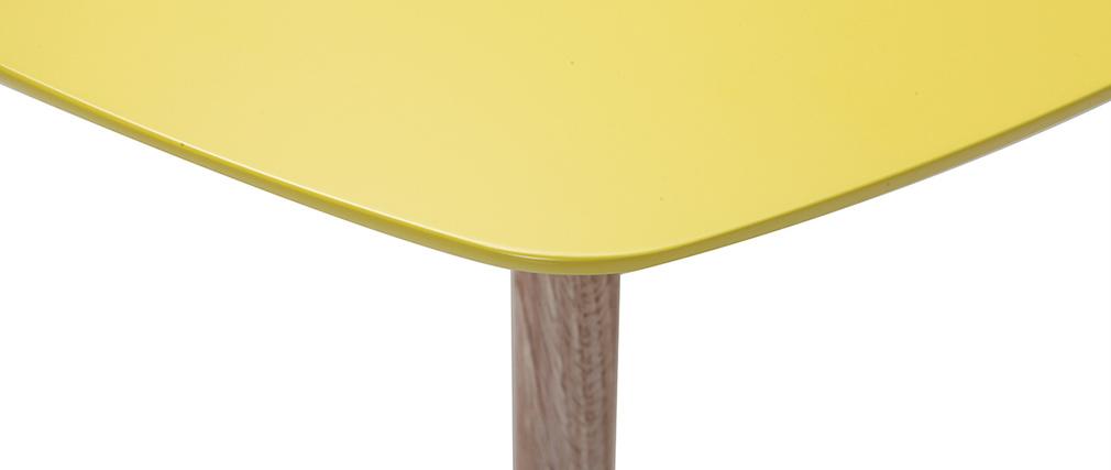 Tavolino design giallo 80cm EKKA