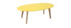 Tavolino design  giallo L120 cm EKKA