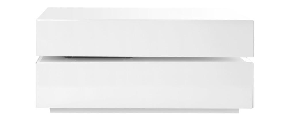 Tavolino design girevole 4 cassetti di colore bianco ELEA