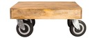 Tavolino design industriale quadrato con rotelle 80x80cm ATELIER