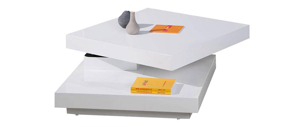 Tavolino design laccato bianco DARIA