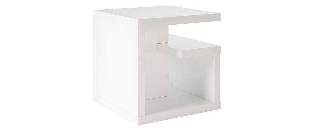 Tavolino design laccato bianco HALTON