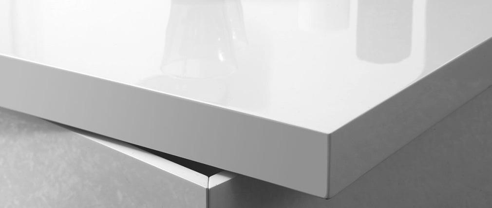 Tavolino design laccato bianco JANA