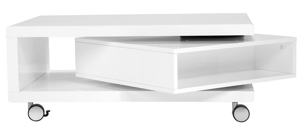 Tavolino design laccato bianco LIVO