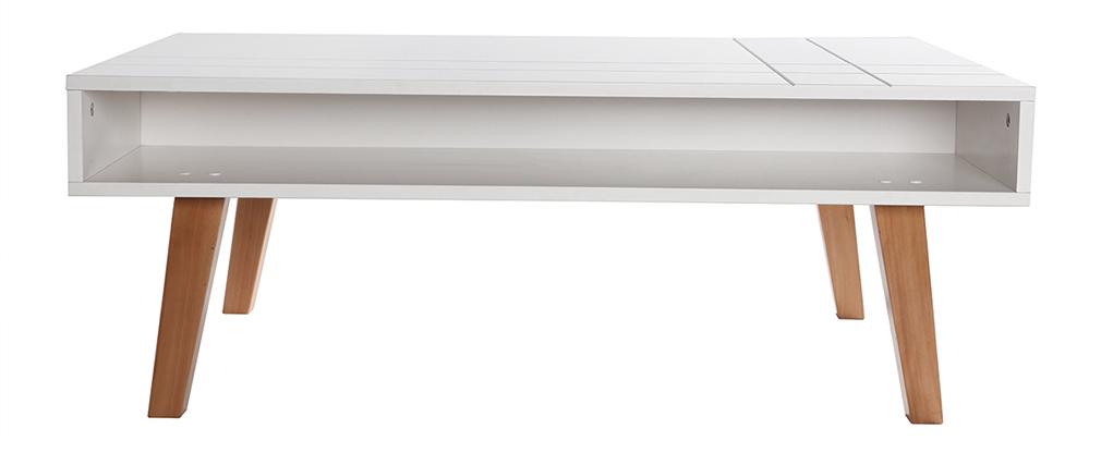 Tavolino design laccato bianco opaco ADORNA