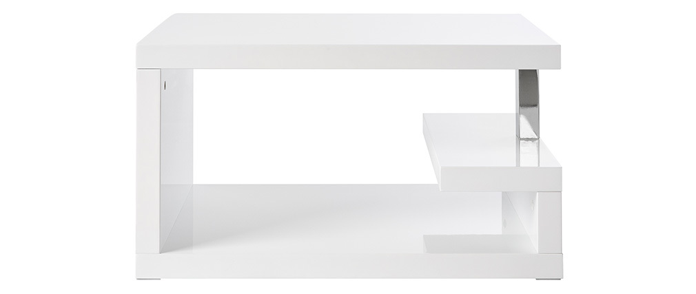 Tavolino design laccato bianco REX