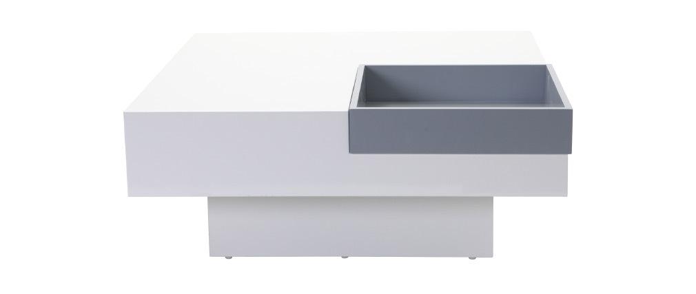 Tavolino design laccato bianco ripiano TEENA