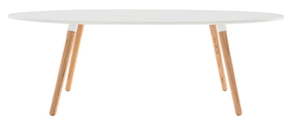 Tavolino design legno naturale e bianco GILDA