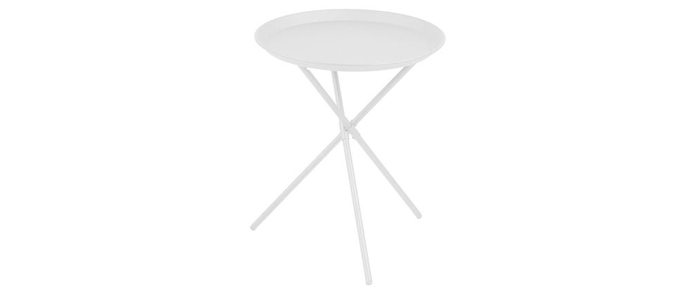 Tavolino design metallo bianco MIKADO