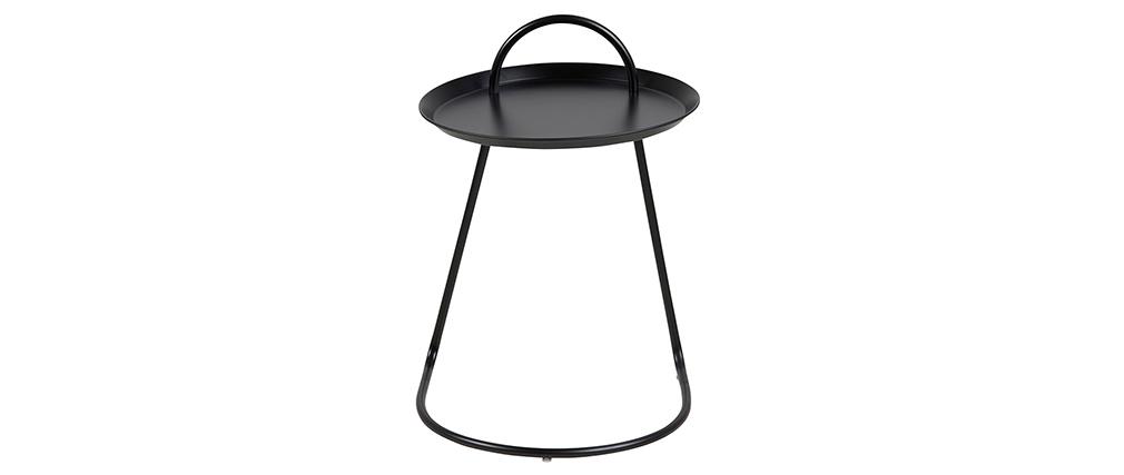 Tavolino design metallo nero MOVE