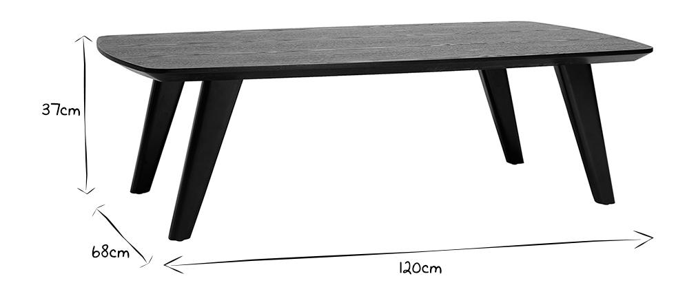 Tavolino design noce FIFTIES